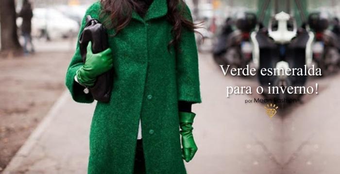 Capa Verde Esmeralda para o inverno 2013