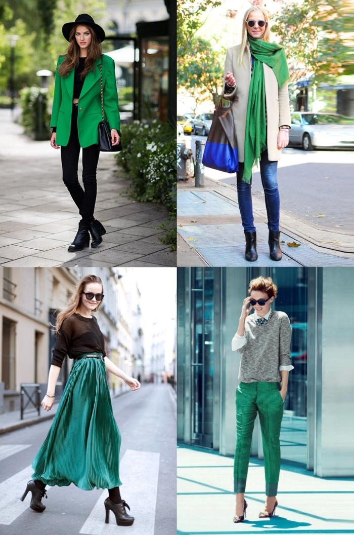 Street style verde esmeralda para o inverno
