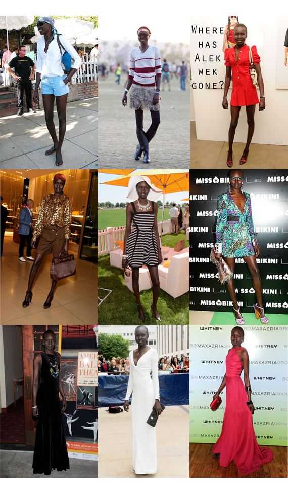 LOOKS Alek Wek por Larissa Barbosa (Blog Mean Fashion)