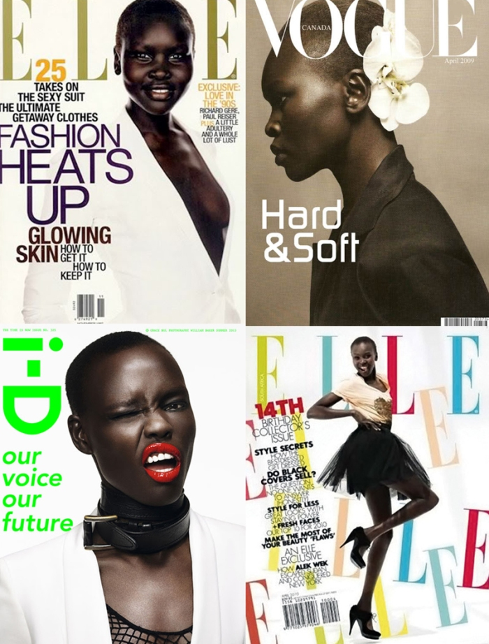 Magazines Alek Wek por Larissa Barbosa (Blog Mean Fashion)