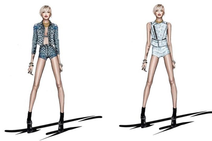 Roberto Cavalli cria figurino para Miley Cyrus por larissa Barbosa ( blog Mean Fashion)
