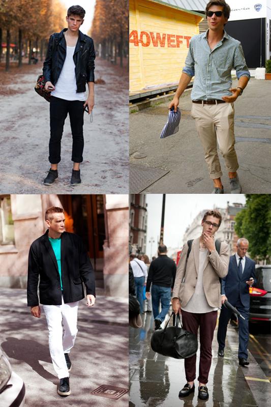 Barra da calça dobrada para homens por Larissa Barbosa ( Blog Mean Fashion)