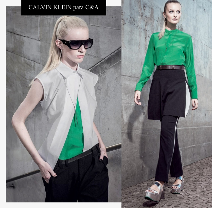 Calvin Klein para C&a por Larissa Barbosa ( Blog Mean Fashion)