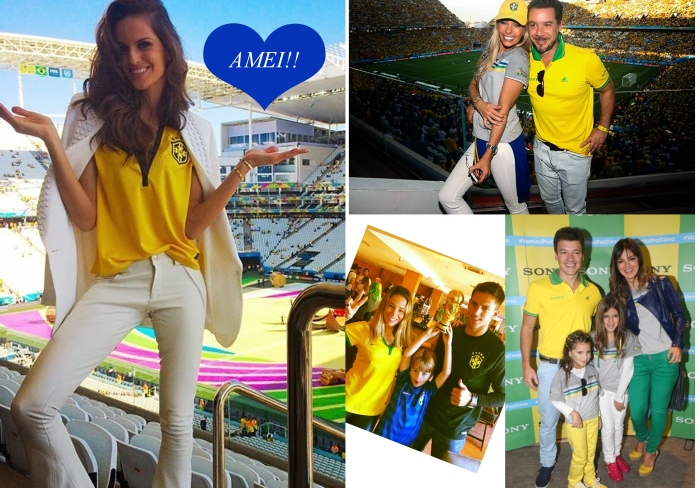 Abertura da copa 2014 por Larissa Barbosa ( Blog Mean Fashion) Izabel Goulart