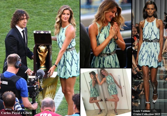 Encerramento da copa 2014 por Larissa Barbosa ( Blog Mean Fashion) Look de Gisele