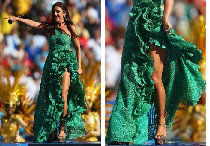 Encerramento da copa 2014 por Larissa Barbosa ( Blog Mean Fashion) Look de Ivete Sangalo