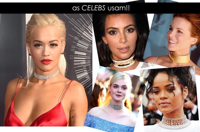 Tendência do colar Choker para temporada por Larissa Barbosa ( Blog Mean Fashion) Celebridades
