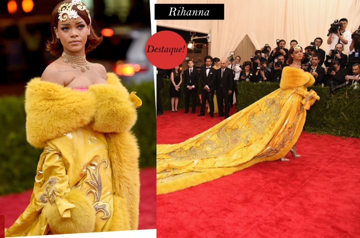 Red carpet do MET 2015 Por Larissa Barbosa ( Blog Mean Fashion)  Rihanna