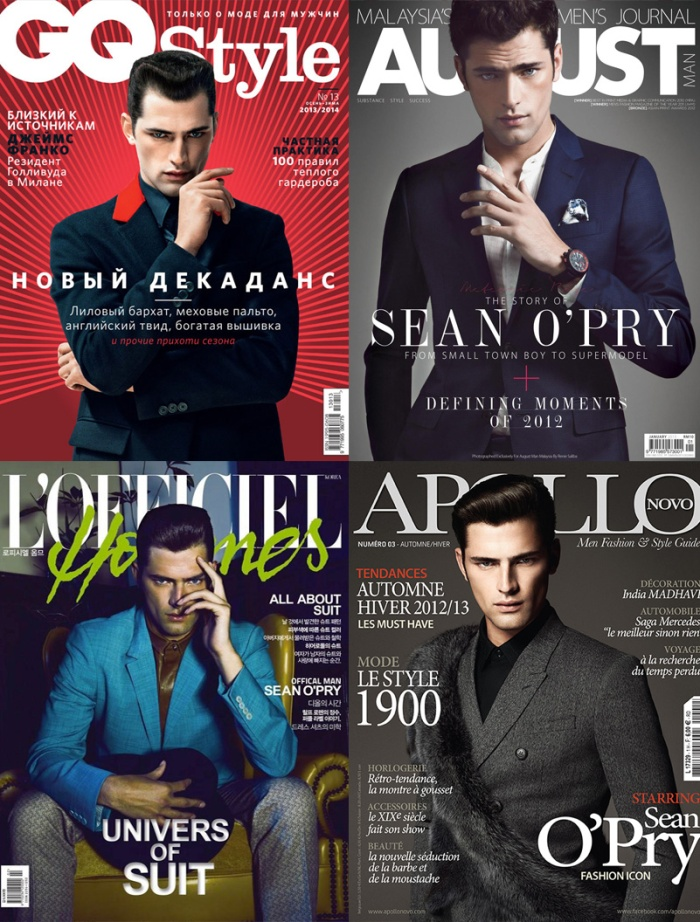 Models Inspirations Sean Opry por Larissa Barbosa (blog mean fashion) Revistas